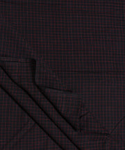 handloom black pink checks cotton fabric