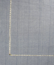 white grey stripe handwoven cotton fabric