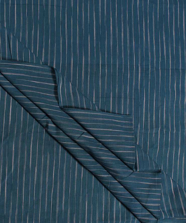 dark blue stripe handwoven cotton fabric