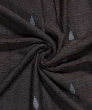 dark brown muslin jamdani handloom fabric