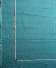 muslin jamdani handloom light blue fabric