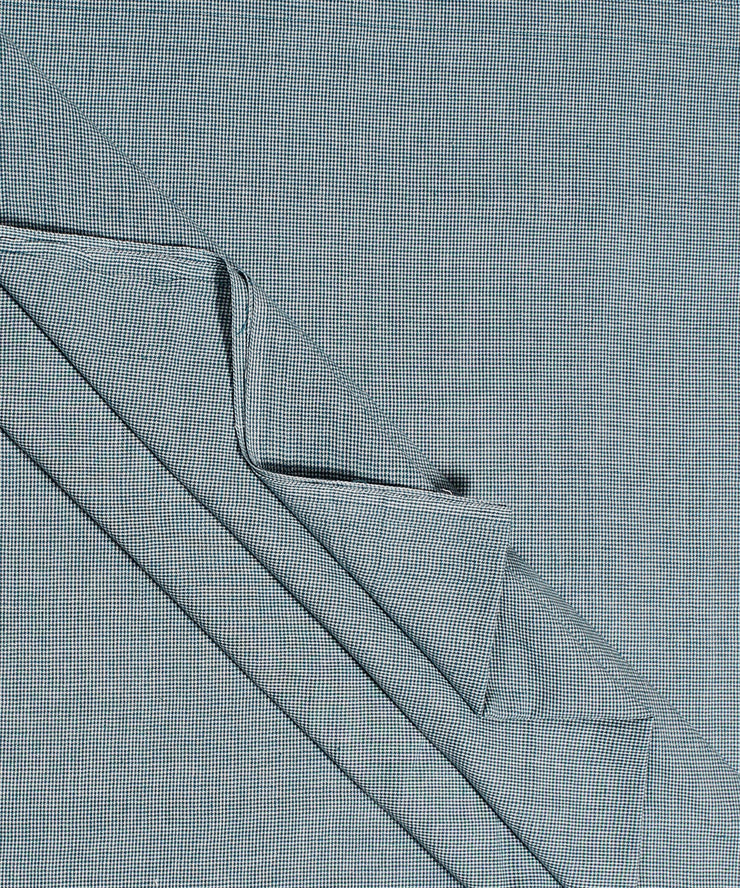 handloom blue white checks cotton fabric