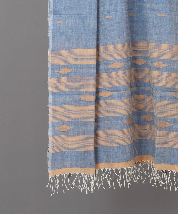 Powder blue jamdani stole