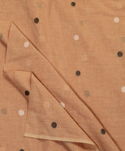 light brown jamdani handloom cotton fabric