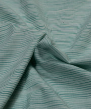 green stripe handloom handspun cotton fabric