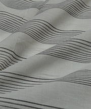 black white stripe handloom cotton fabric