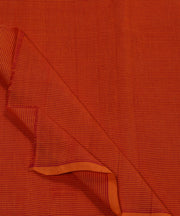 brick red stripe handloom mangalagiri fabric