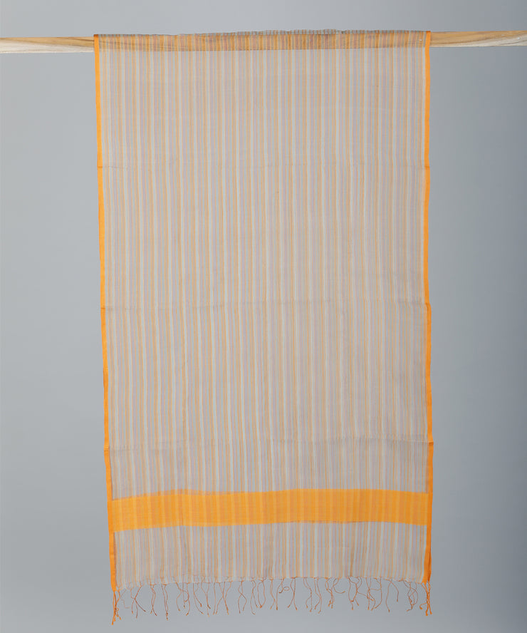 Muticolour striped handwoven sico stole
