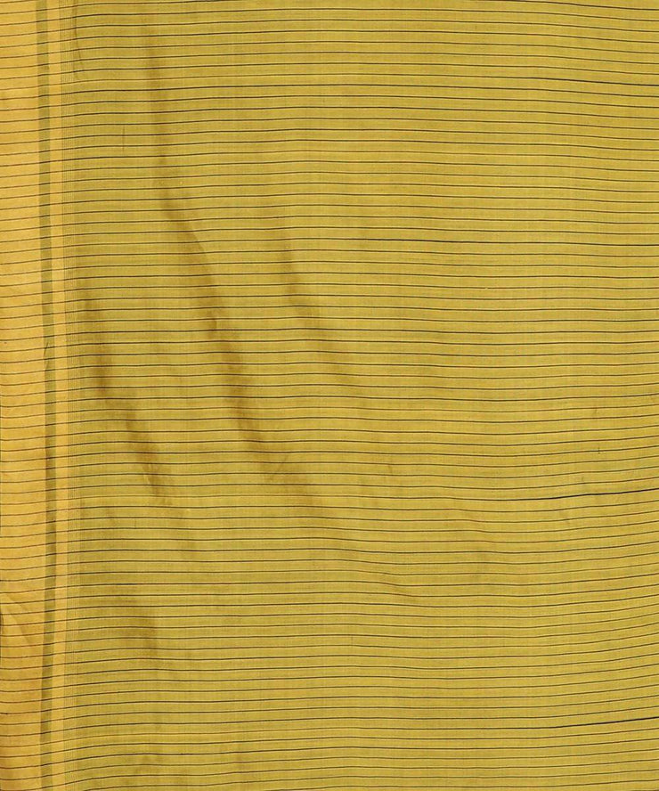 Golden yellow handwoven tussar silk saree