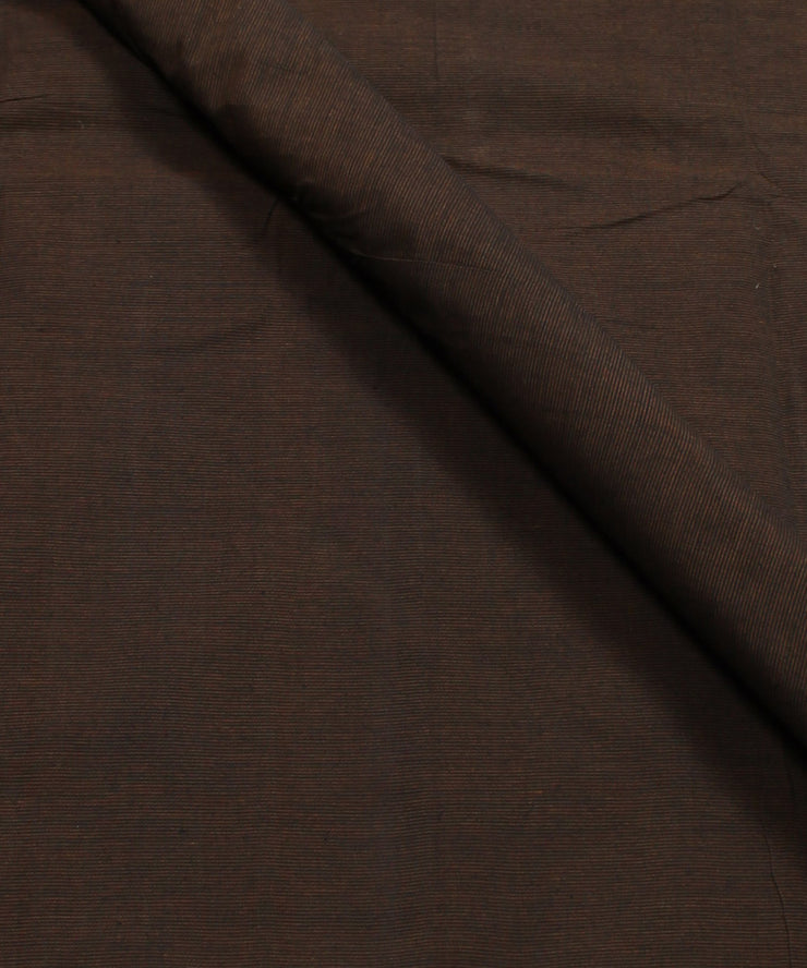 dark brown mangalagiri handwoven fabric