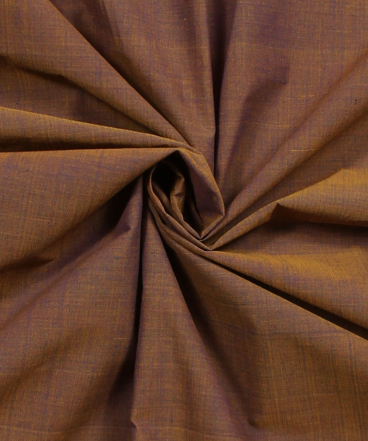 bronze mangalagiri handwoven cotton fabric
