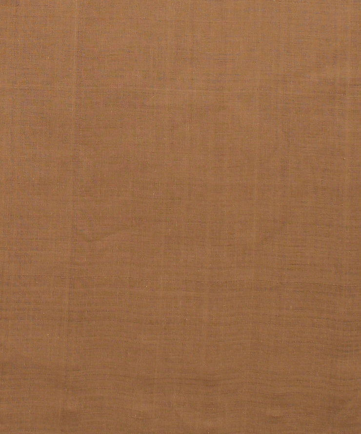 brown mangalgiri handwoven cotton fabric
