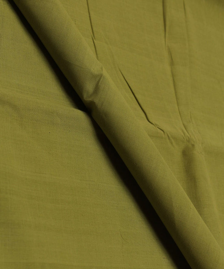 parrot green handloom cotton fabric