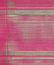 Beige and pink handwoven tussar silk saree