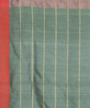 Copper brown handwoven tussar silk saree