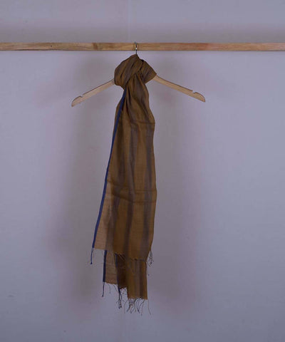 Brown handwoven cotton silk stole