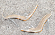 Transparent Pointed Toe Heels - Crowned With Grace Boutique