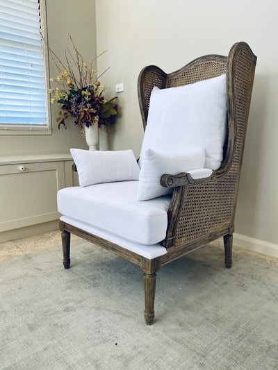 Evangeline Rattan Upholstered Chair