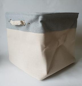 Linen Planter Pot Bag (Stone)
