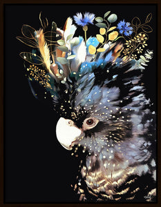 Inkheart - Blue/Black Cockatoo 70x90cm