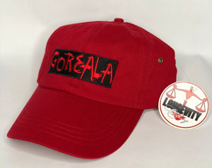 GoREALa Dad Hat- Red/Black