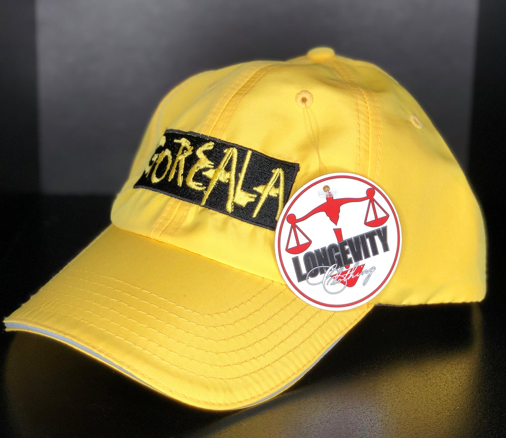 Unisex Performance Pitch Cap- Yellow/ Black