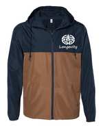 LC Water- Resistant Windbreaker- Navy/Saddle