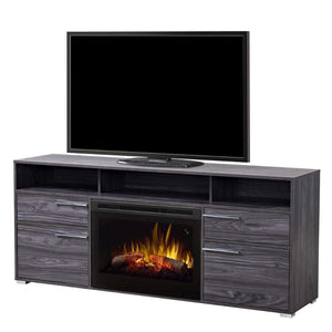 "Dimplex Sander 66"" Media Console with 25"" Electric Firebox - US Fireplace Store"