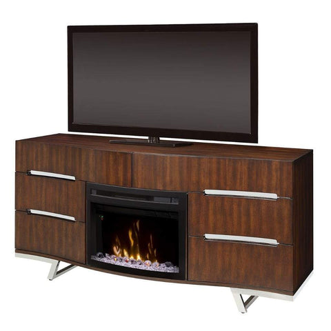 "Dimplex Valentina 72"" Media Console with 25"" Electric Firebox - US Fireplace Store"