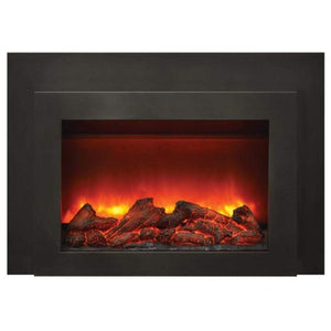 "Sierra Flame by Amantii Deep 30""/34"" Electric Fireplace Insert with Black Steel Surround - US Fireplace Store"
