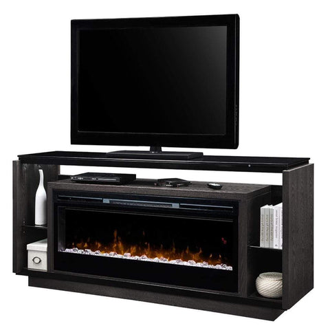 "Dimplex David 74"" Media Console with 50"" Electric Firebox - US Fireplace Store"