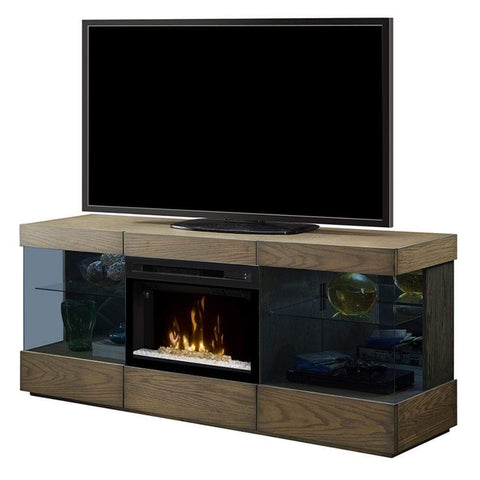 "Dimplex Axel 71"" Media Console with 25"" Electric Firebox - US Fireplace Store"