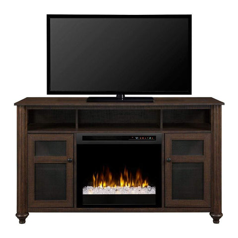"Dimplex Xavier 56"" Media Console with 23"" Electric Firebox - US Fireplace Store"