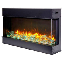 "Amantii Tru-View 30"" Three Sided Slim Glass Electric Fireplace - US Fireplace Store"
