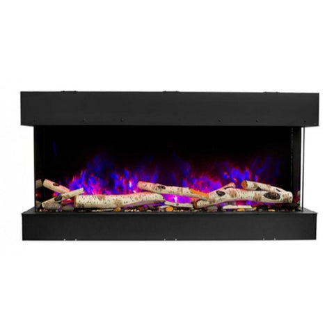 "Amantii Tru-View 60"" Three Sided Slim Glass Electric Fireplace - US Fireplace Store"