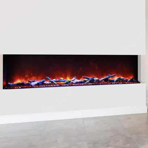 "Amantii Tru-View XL Deep 72"" Built-In Three Sided Electric Fireplace - US Fireplace Store"