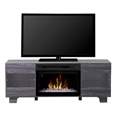 "Dimplex Max 62"" Media Console with 25/26"" Electric Firebox - US Fireplace Store"
