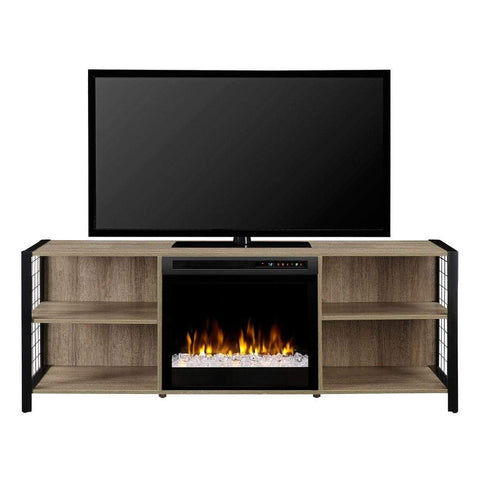 "Dimplex Asher 65"" Media Console with 23"" Electric Firebox - US Fireplace Store"