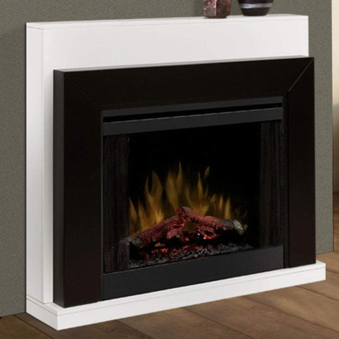"Dimplex Ebony 50"" Convertible Contemporary Mantel with 33"" Electric Firebox - US Fireplace Store"