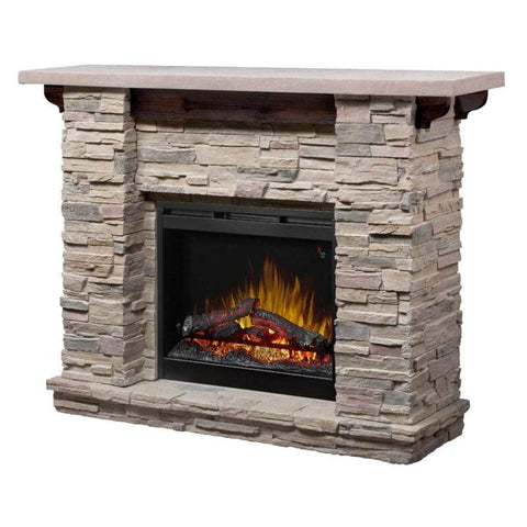 "Dimplex Featherston Stone Look 61"" Mantel with 26"" Electric Firebox - US Fireplace Store"