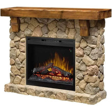 "Dimplex Fieldstone Stone Look 55"" Mantel with 26"" Electric Firebox - US Fireplace Store"