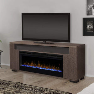 "Dimplex Haley 76"" Media Console with 50"" Electric Firebox - US Fireplace Store"
