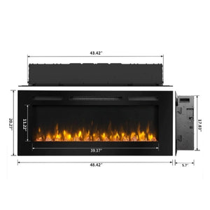 "Dynasty Harmony 48"" Wall Mount Electric Fireplace(BTW48) - US Fireplace Store"