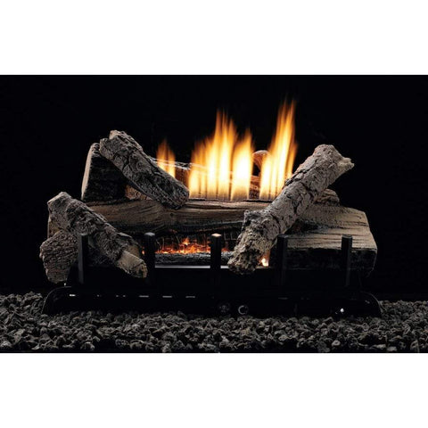 "Empire 18"" Whiskey River Refractory Log Set with Vent-Free Contour Burner - US Fireplace Store"