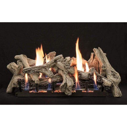 "Empire 24"" Driftwood - Burncrete Refractory Log Set - US Fireplace Store"