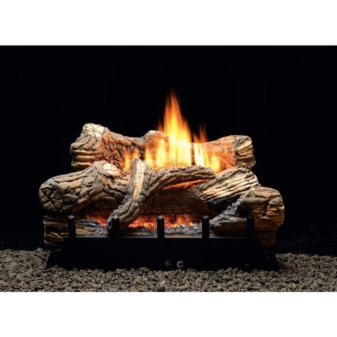 "Empire 24"" Flint Hill Ceramic Fiber Gas Log Set with Vent-Free Contour Burner - US Fireplace Store"