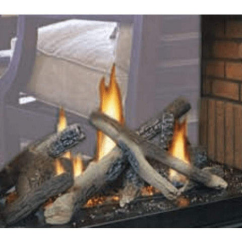 "Empire 24"" Multi-Sided Campfire Log Set Accessory for 36"" Peninsula and See-Thru Tahoe Fireplaces - US Fireplace Store"