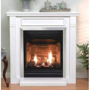 "Empire 24"" Vail Vent-Free Fireplace with Slope Glaze Burner - Millivolt Control with On/Off Switch - US Fireplace Store"