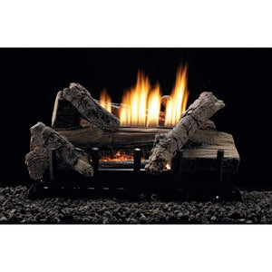 "Empire 24"" Whiskey River Refractory Log Set with Vent-Free Contour Burner - US Fireplace Store"