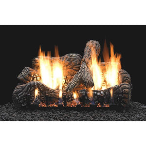 "Empire 30"" Charred Oak Ceramic Fiber Log Set - US Fireplace Store"